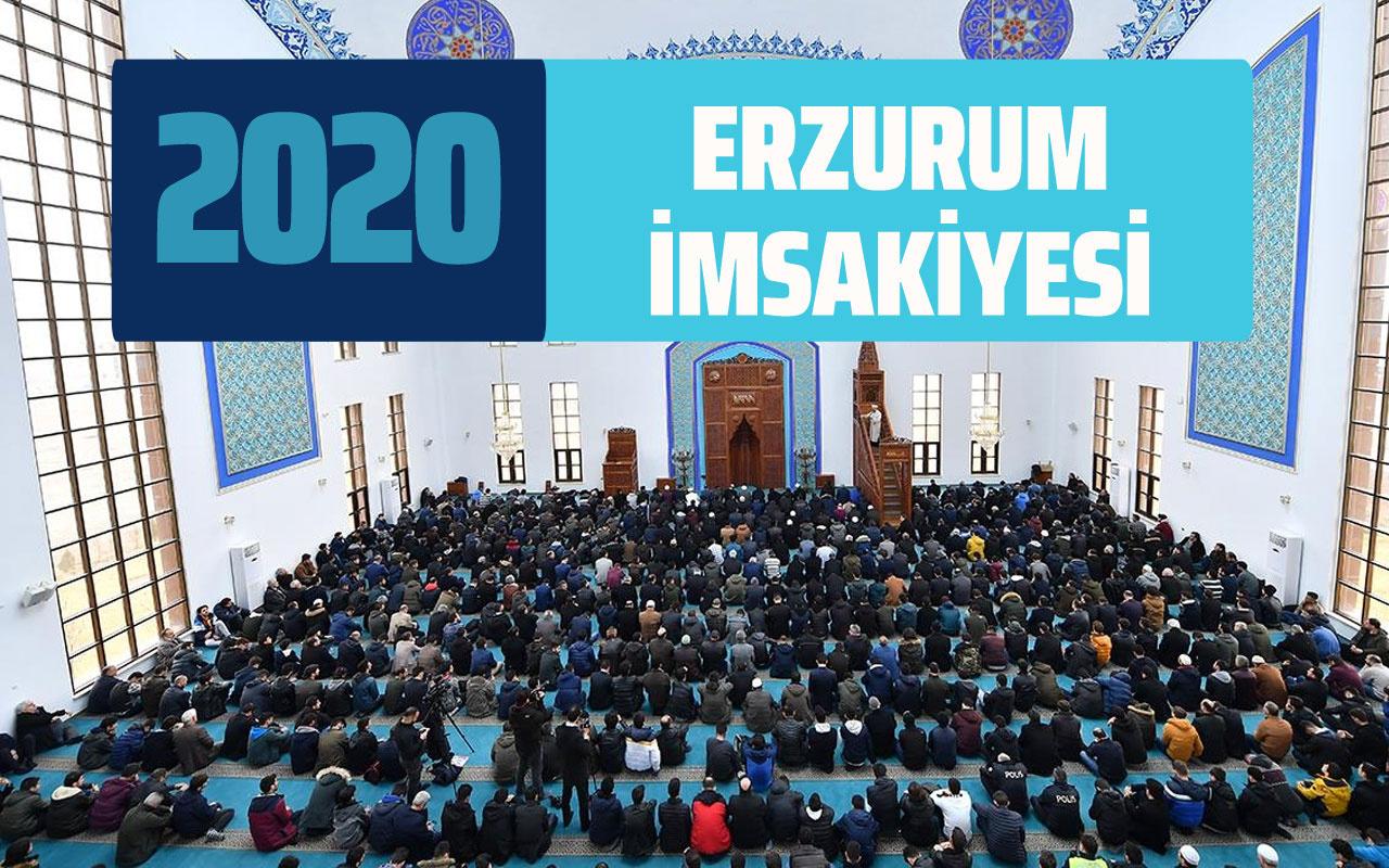 Erzurum imsak vakti Erzurum İmsakiye Diyanet sahur iftar saatleri