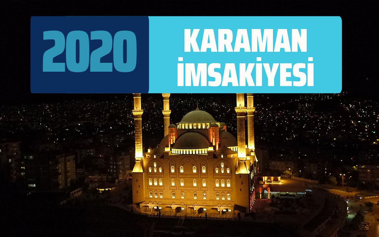 Karaman İmsakiye 2020 Diyanet Karaman sahur iftar saati imsak vaktı