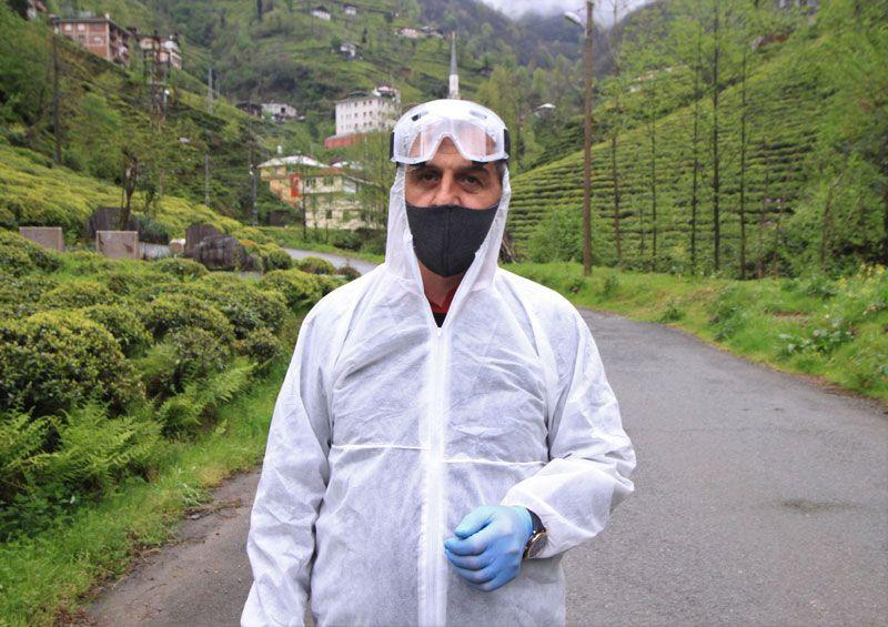 Rizeli muhtardan sıra dışı koronavirüs önlemi