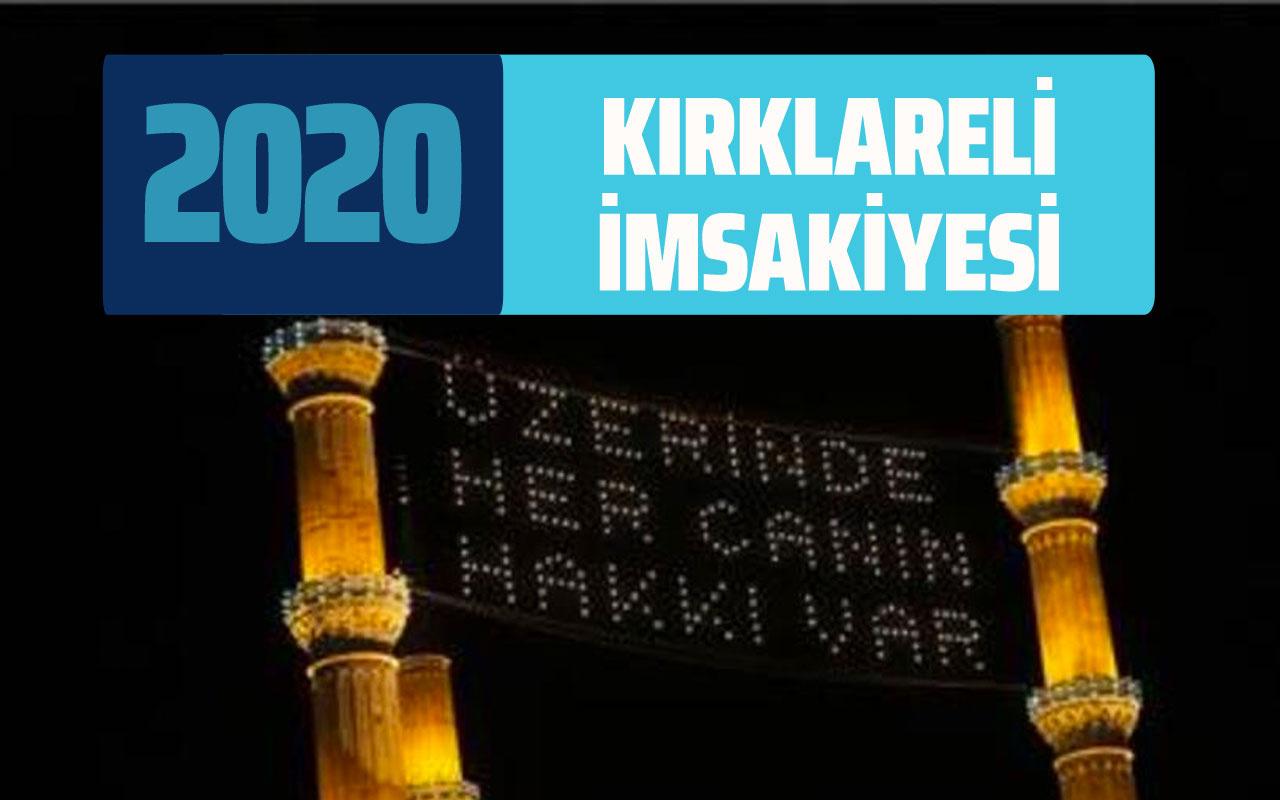 Kırklareli sahur İmsakiyesi 2020 iftar imsak saati! Kırklareli Diyanet İmsakiye takvimi