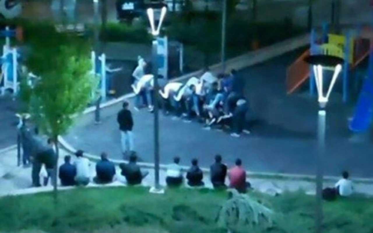 Ankarada sokağa çıkma yasağına aldırmadılar! Parkta uzun eşek oynadılar...