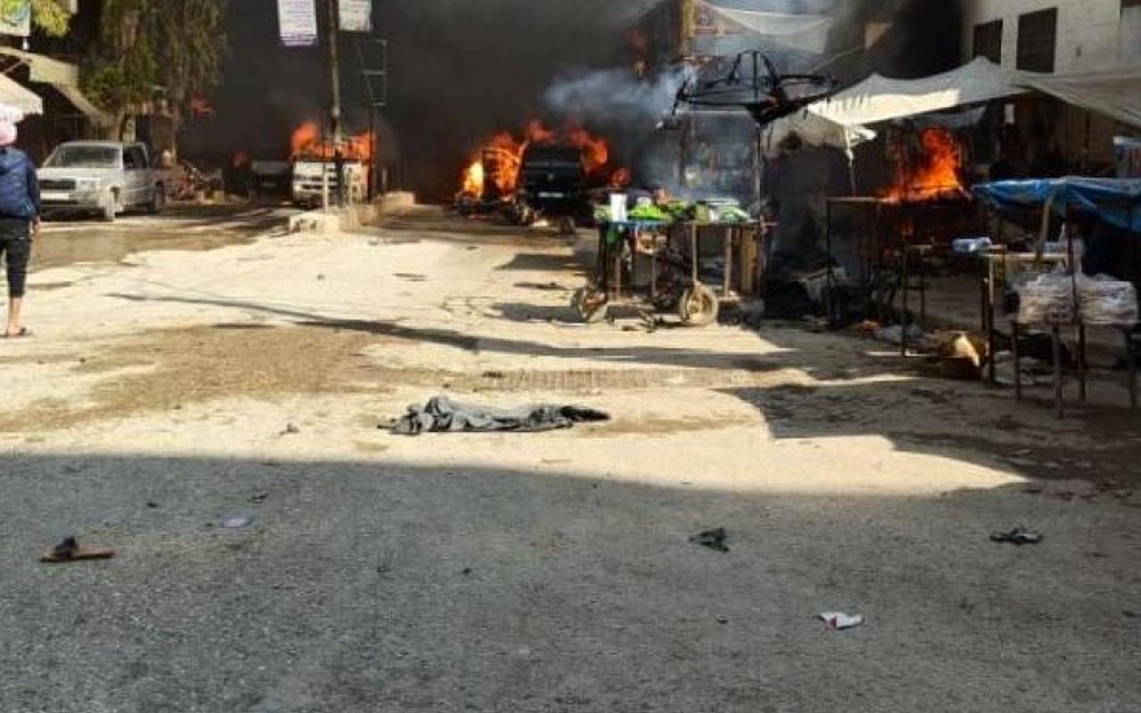 PKK'dan Afrin'de bomba yüklü tankerle terör saldırısı çok sayıda ölü ve yaralı var