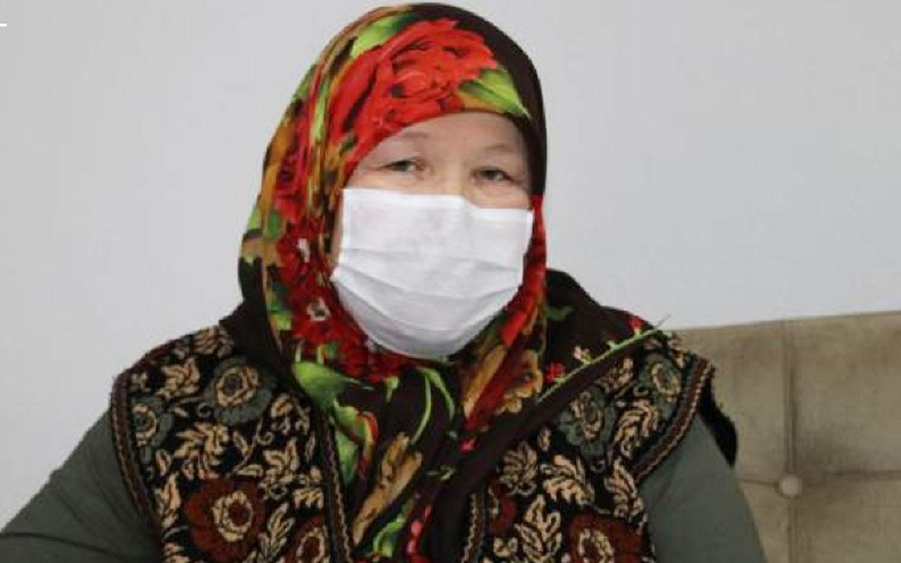 Düzce'de koronayı yenen yaşlı kadın eşine sürpriz yaptı