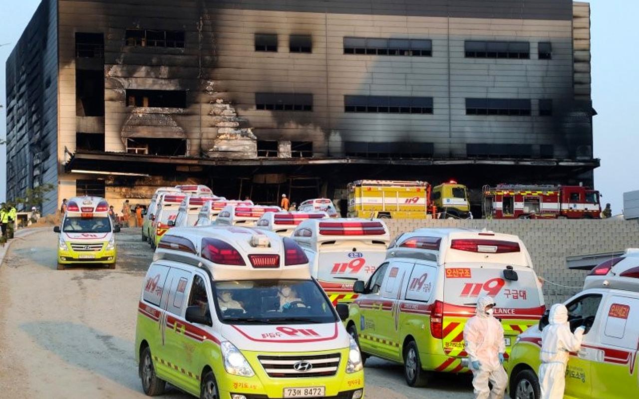 Güney Kore'de dehşet veren yangın faciası: 25 ölü 7 yaralı