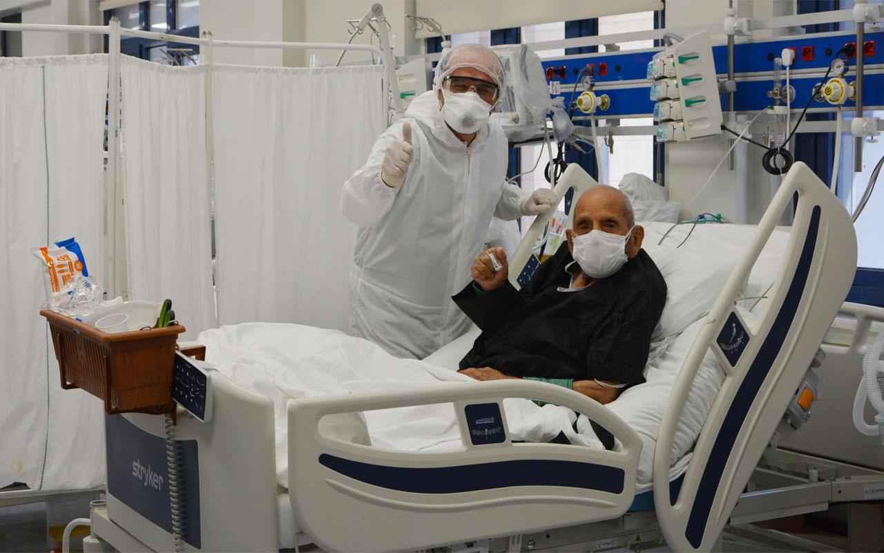 Denizli'de 100 yaşında korona virüsü yendi