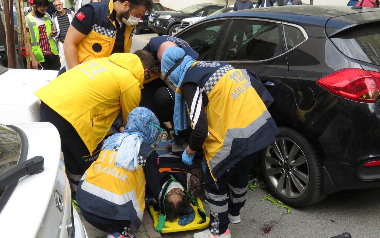 Ümraniye'de korkunç kaza: Pazardan dönerken otomobilin altında kaldı