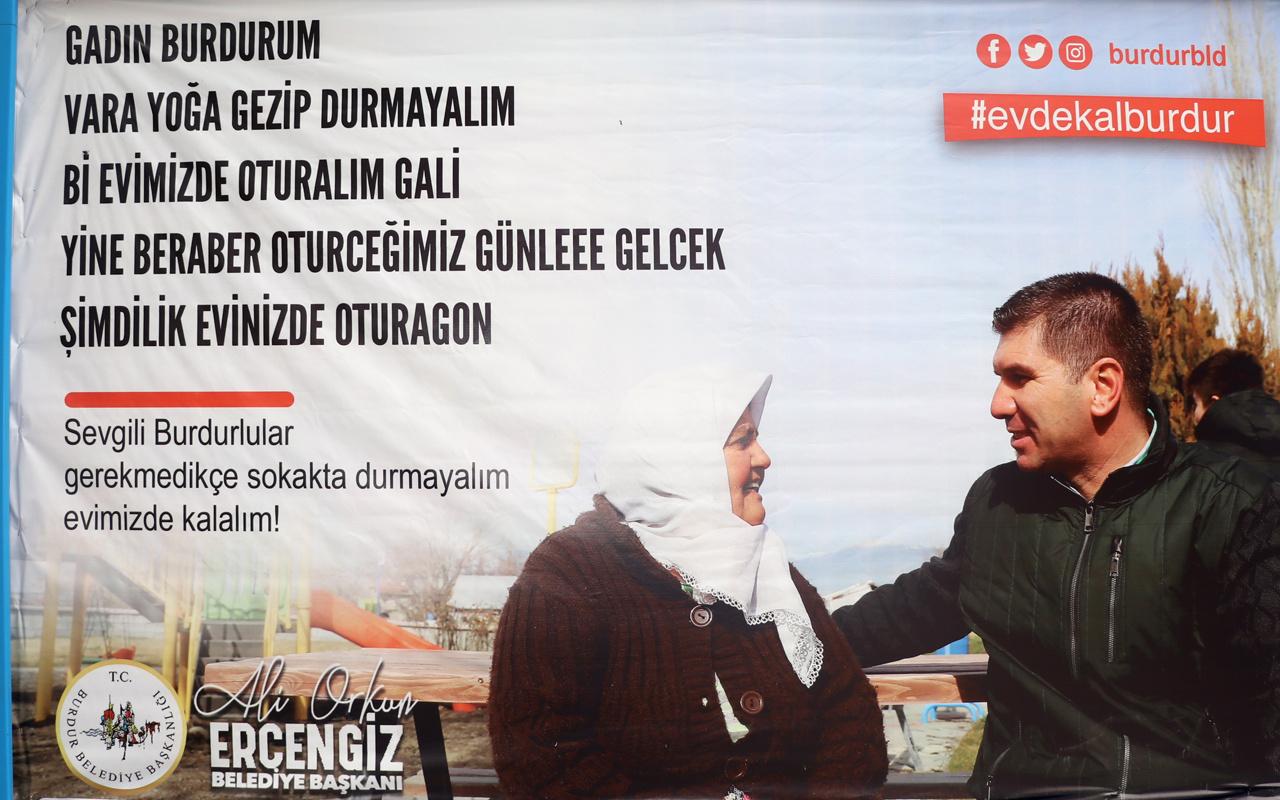 Burdur'da yerel şiveyle 'Evde kal' çağrısı: Gadın burdurum