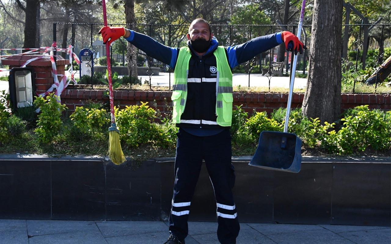 Tekirdağ'da temizlik işçileri 1 Mayıs'ı oynayarak kutladı