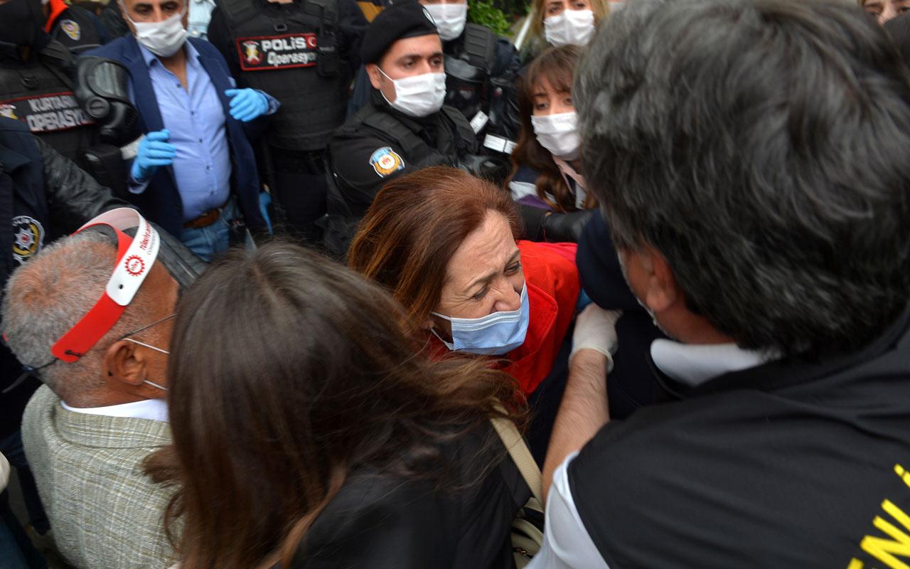 DİSK önünden Taksim'e yürümek isteyen gruba gözaltı