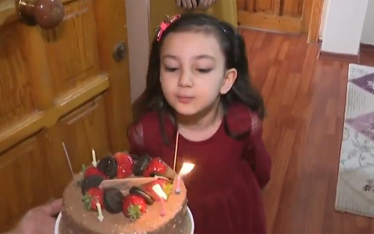 5 yaşındaki Melek'e doğum günü sürprizini polis ekipleri yaptı