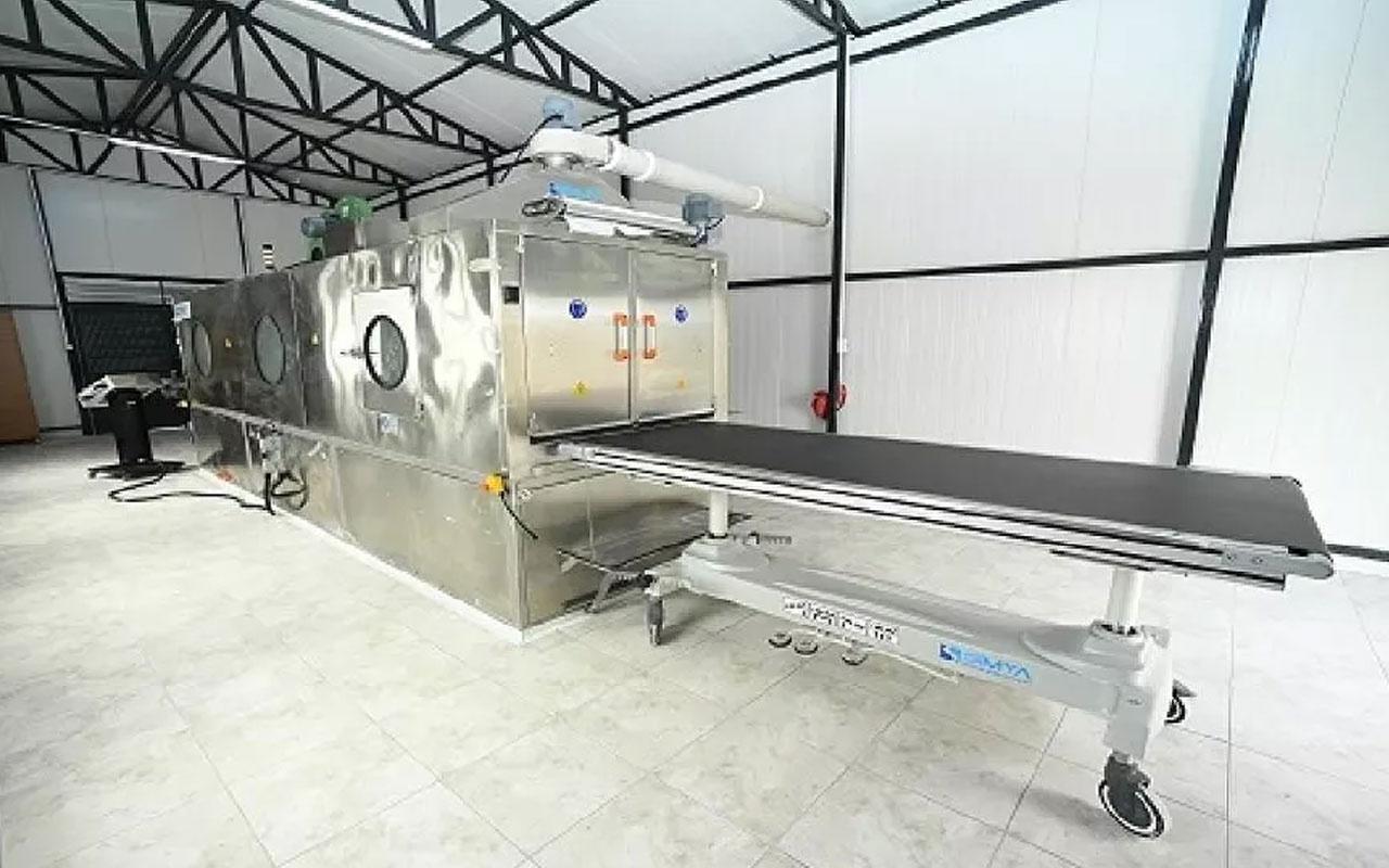 Otomatik cenaze yıkama makinesi! Belediye üretti Diyanet onay verdi