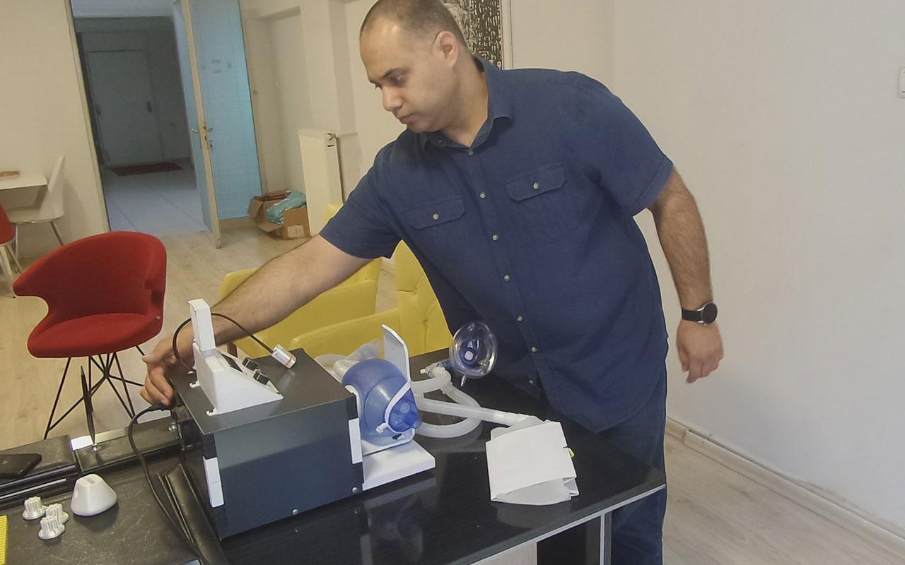 Zonguldak'ta taşınabilir mekanik ventilatör üretildi