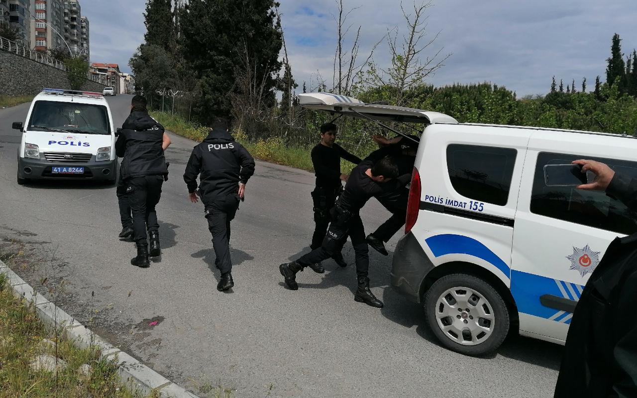 Kocaeli'de yasağa uymayan şahıs polise saldırdı