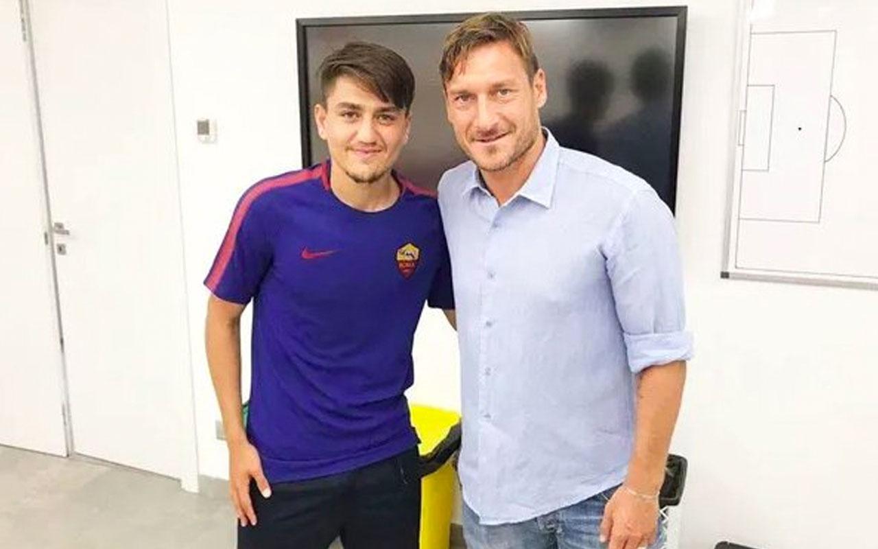 Futbol efsanesi Totti Cengiz Ünder'i yere göğe sığdıramadı! O tam bir futbolcu