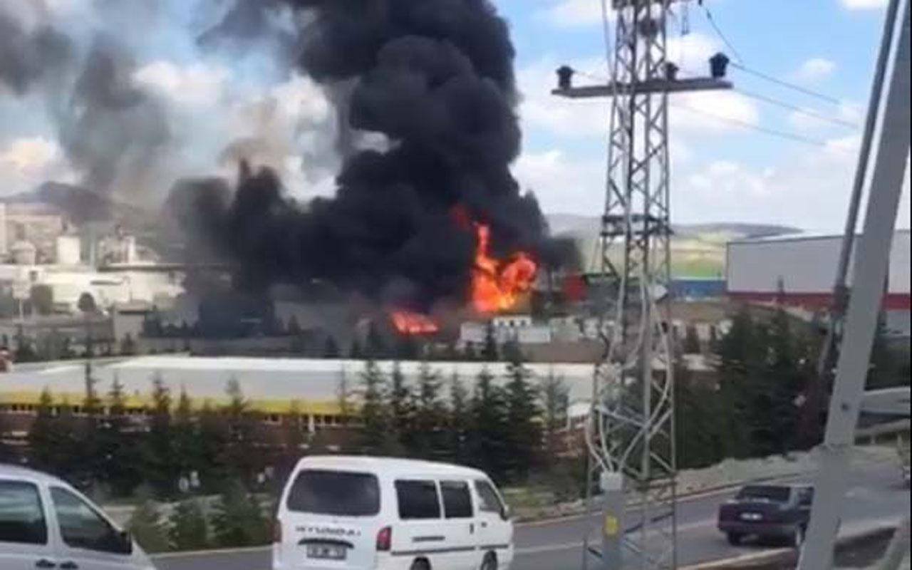 Ankara'da boya fabrikasında yangın: 2 ölü