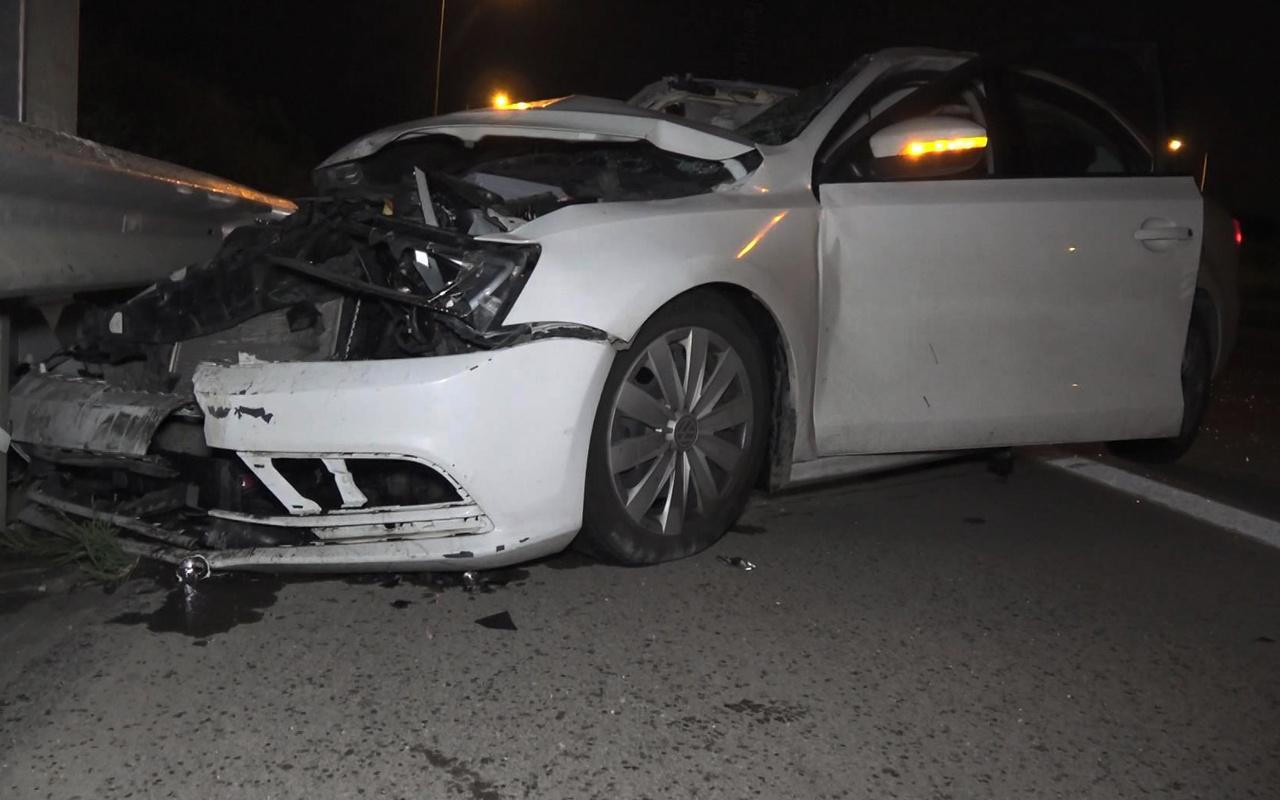Bursa'da direksiyon başında kolonya sürünce kaza beraberinde geldi