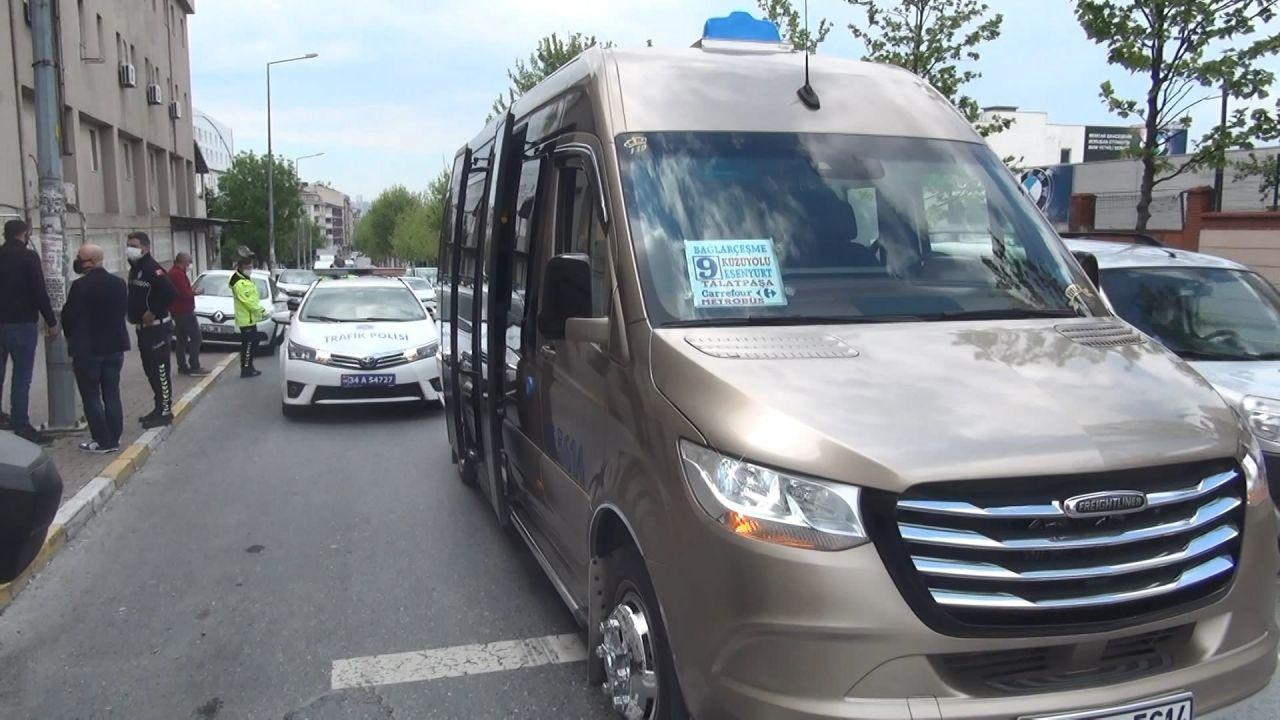 Esenyurt'ta korona denetimi 2'nci kez durdurulan minibüsten çıkan yolcu sayısı şaşırttı