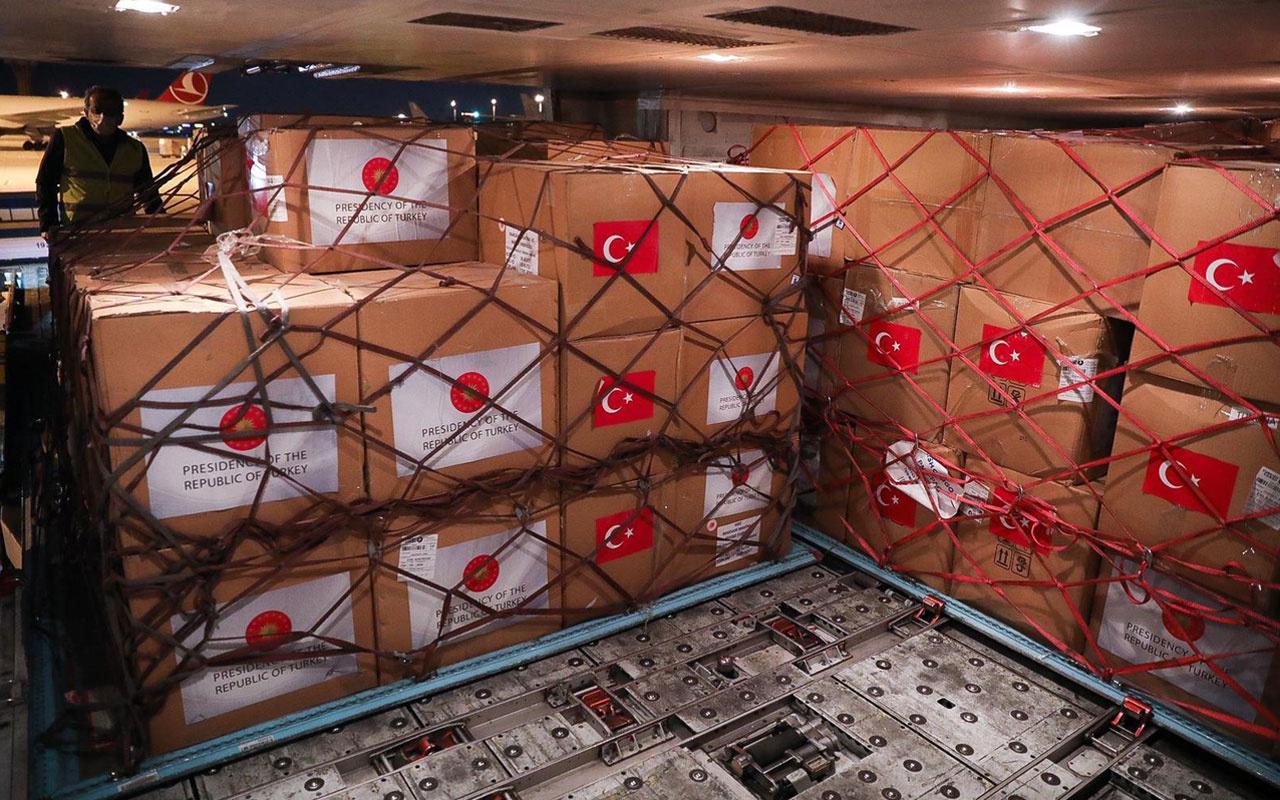 Tunus'a koronavirüsle mücadele için tıbbi malzeme yardımı!