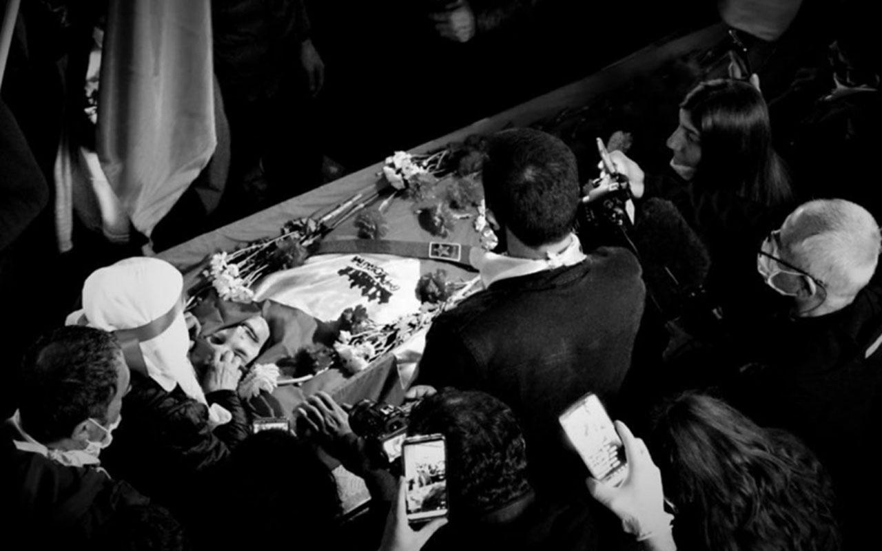 Grup Yorum üyesi İbrahim Gökçek'in cenazesinde olay mahalleli sokağa döküldü
