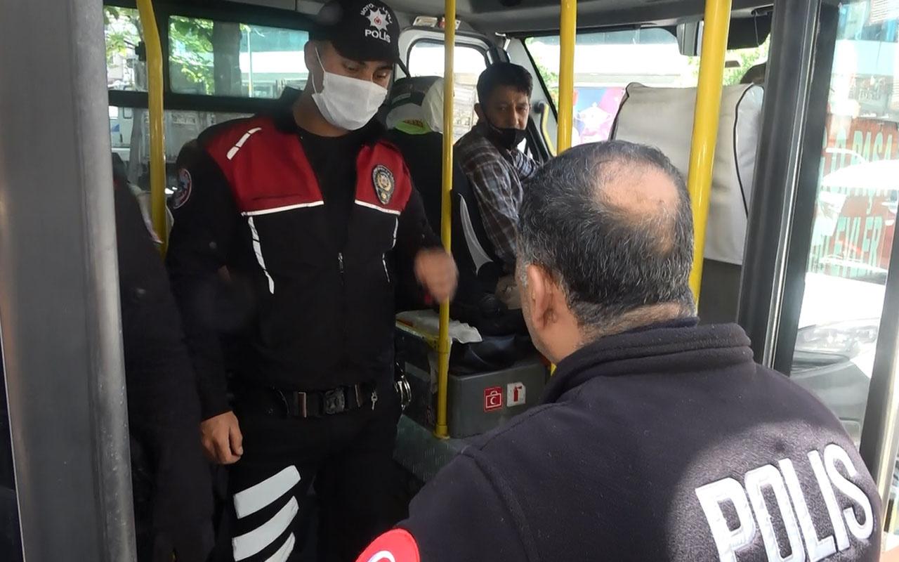 Sultangazi'de minibüs şoförlerinin güzergah oyunu