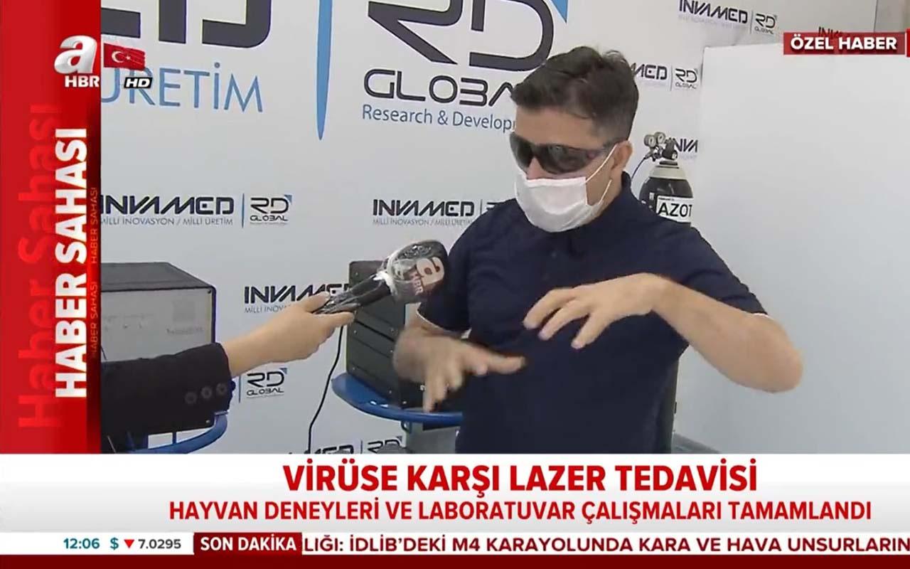 Koronavirüse karşı Türkiye'den lazer tedavisi