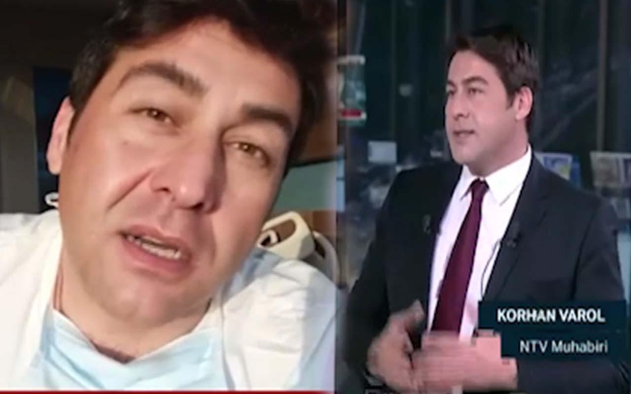 Koronavirüsü yenen NTV muhabiri Korhan Varol tedavisini adım adım görüntüledi