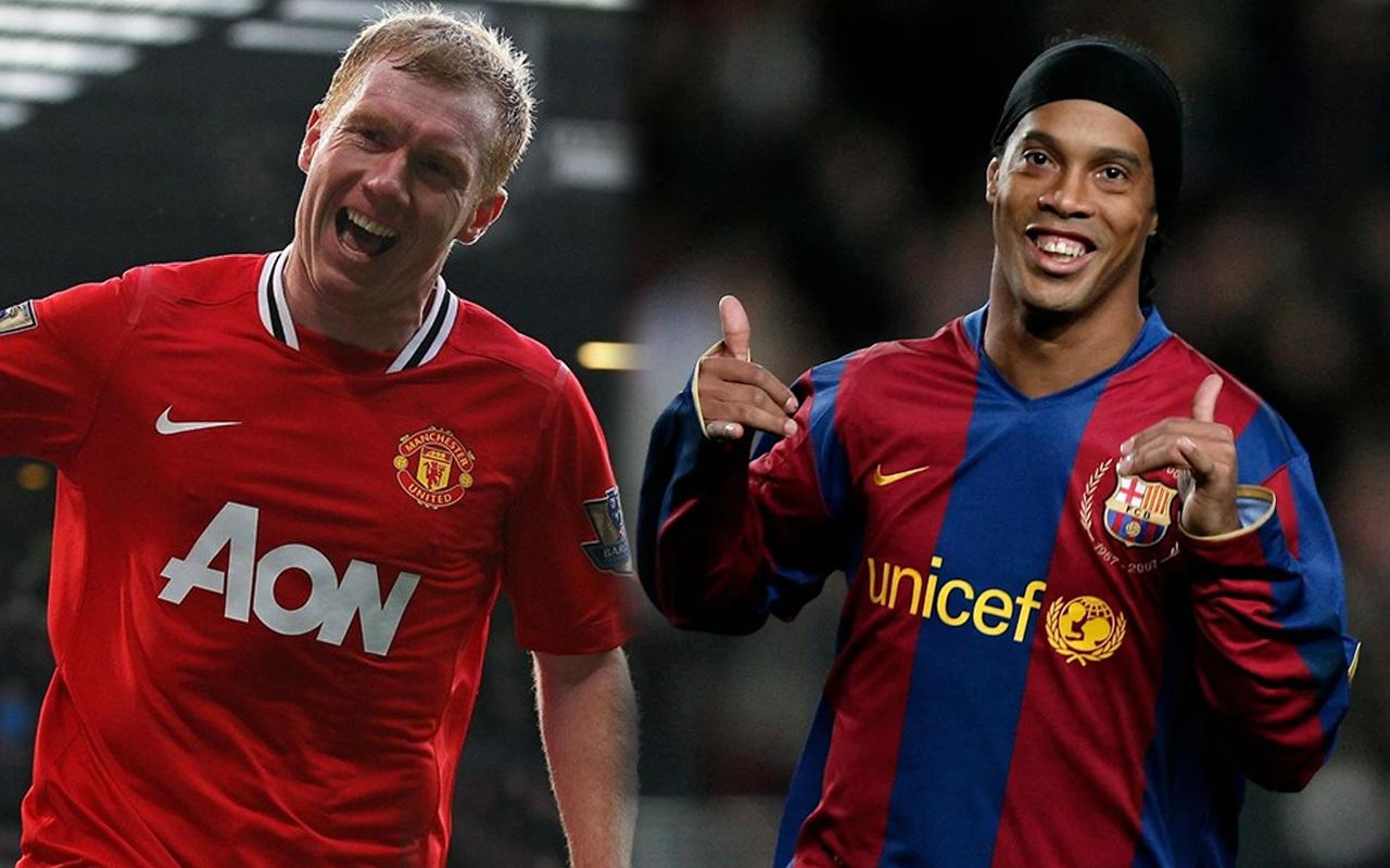Paul Scholes'un Ronaldinho itirafı: Herkes tekme atmaya çalışıyordu