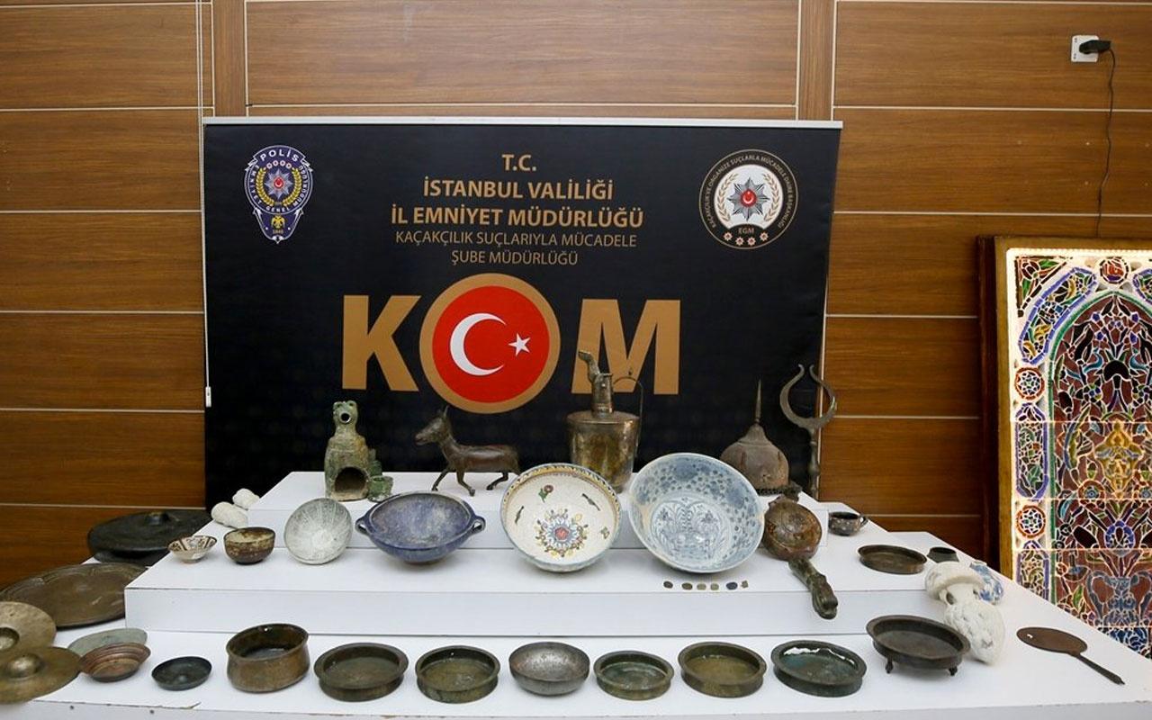 İstanbul'da sanat evine operasyon! 78 parça tarihi eser ele geçirildi