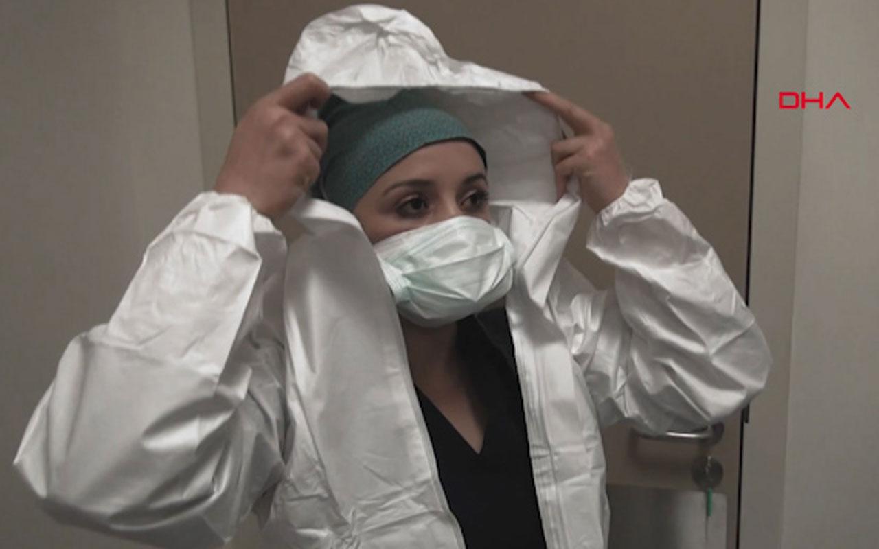 Koronavirüs savaşçısı hemşirenin 1 günü kamerada! Sosyal medya yıkıldı