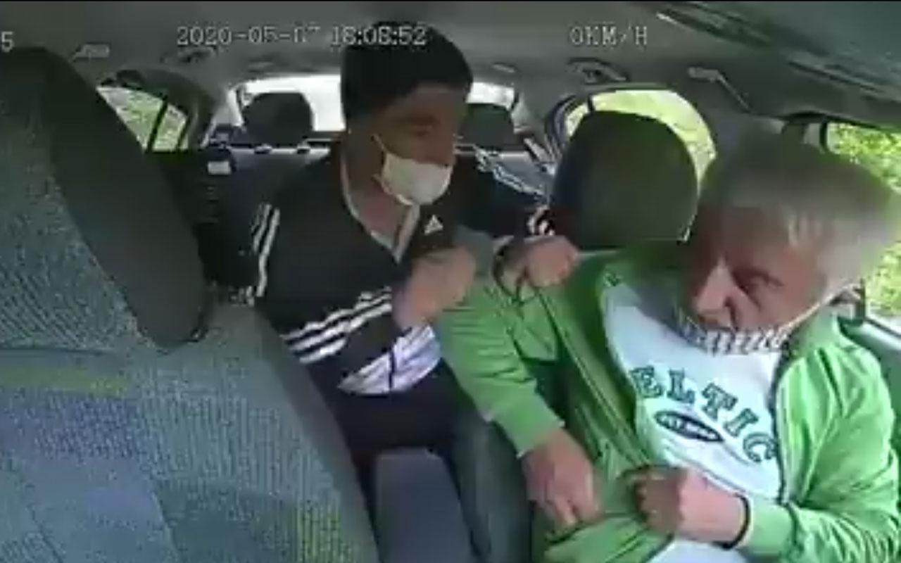 İstanbul'da boğazına bıçak dayayıp taksiciyi gasp etti! İşte o anlar kamerada