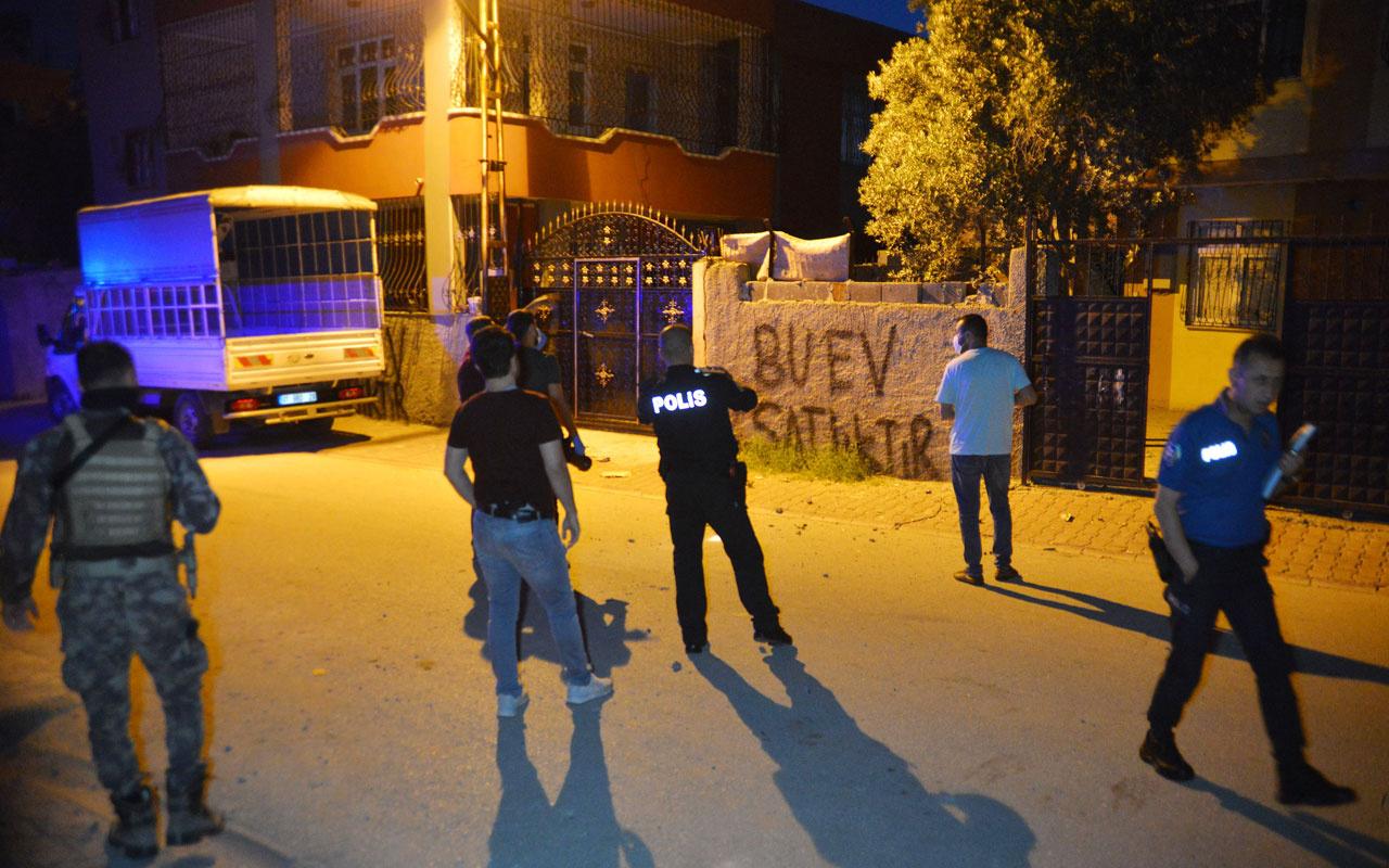 Adana'da evin bahçesine ses bombası atıldı