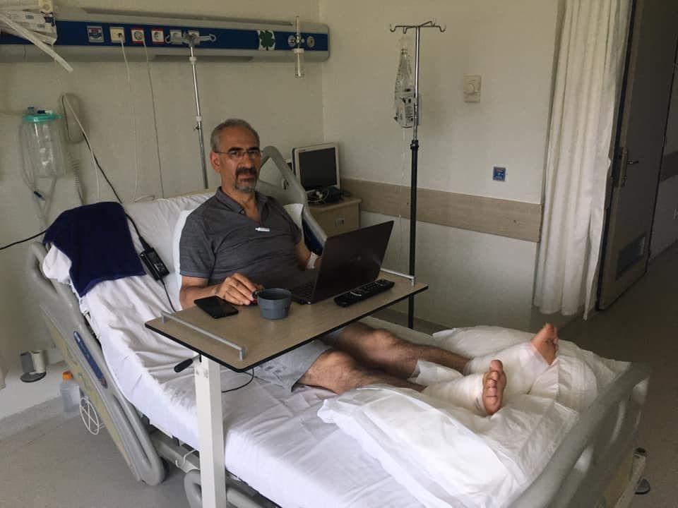 Denizli'de profesör 82 derecelik termal suya düştü!