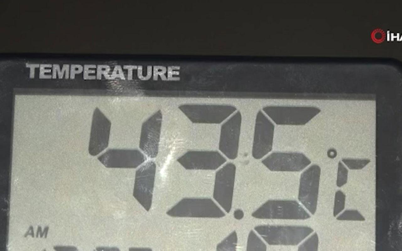 Kozan'da termometreler 43,5 dereceyi gösterdi! Kendilerini soğuk suya attılar