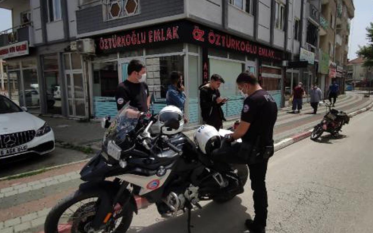 Bursa'da yasağa uymayan iki gence para cezası