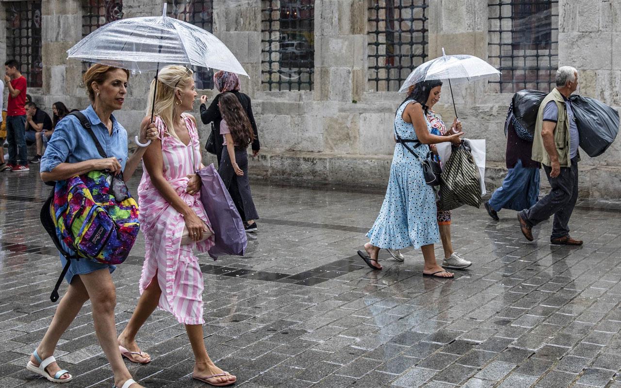 Meteoroloji'den önemli uyarı! Şemsiyesiz çıkmayın