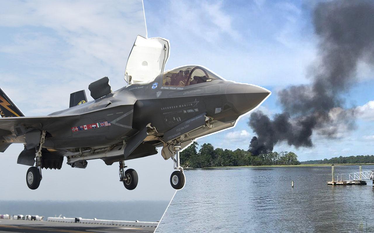 ABD'de F-35 savaş uçağı inmek üzereyken düştü!
