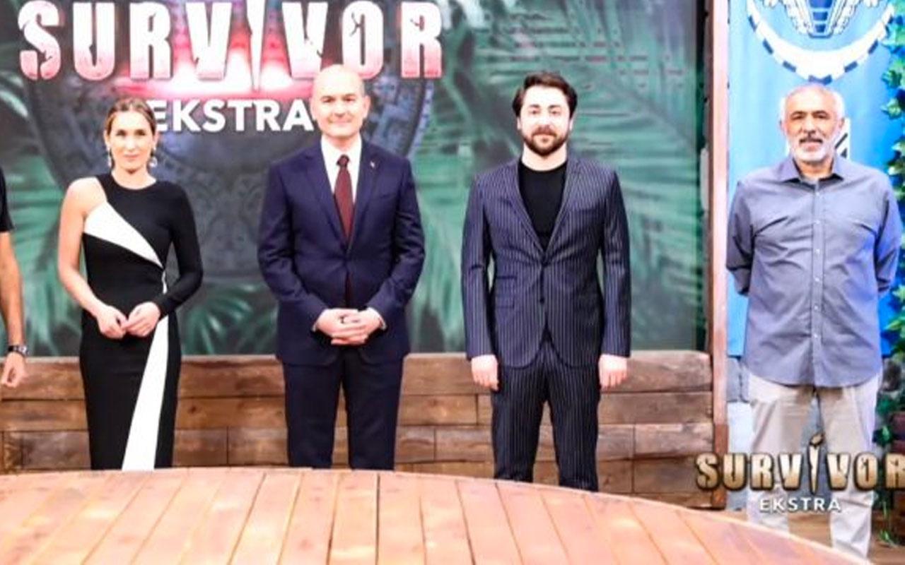 İçişleri Bakanı Süleyman Soylu'dan Survivor Extra programına ziyaret