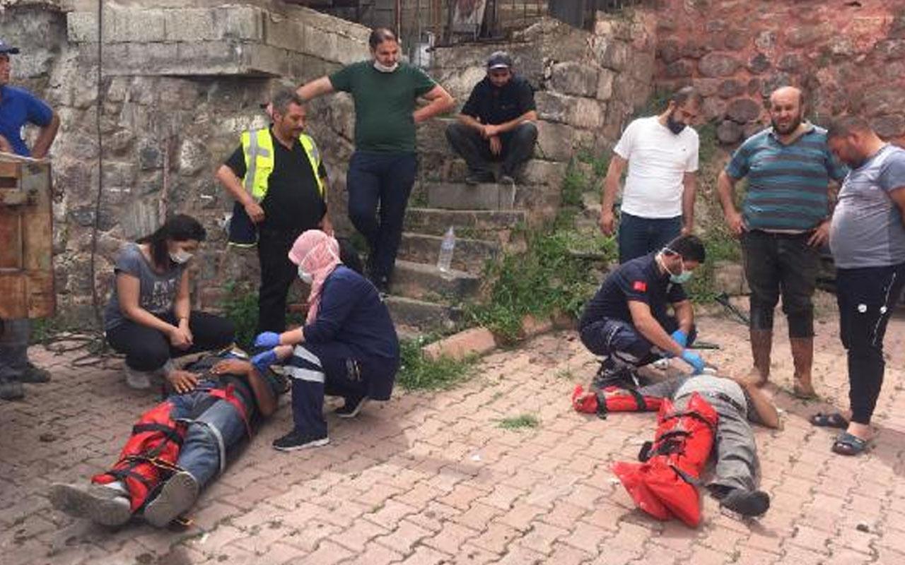 Kayseri'de freni boşalan hafriyat kamyonu dehşet saçtı