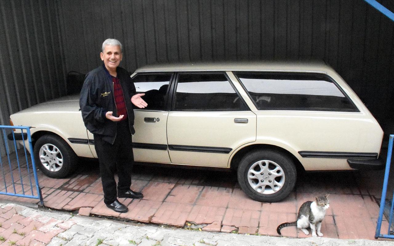 Zonguldak'ta 'Allah benden ayırmasın' dediği otomobiline 40 yıldır gözü gibi bakıyor