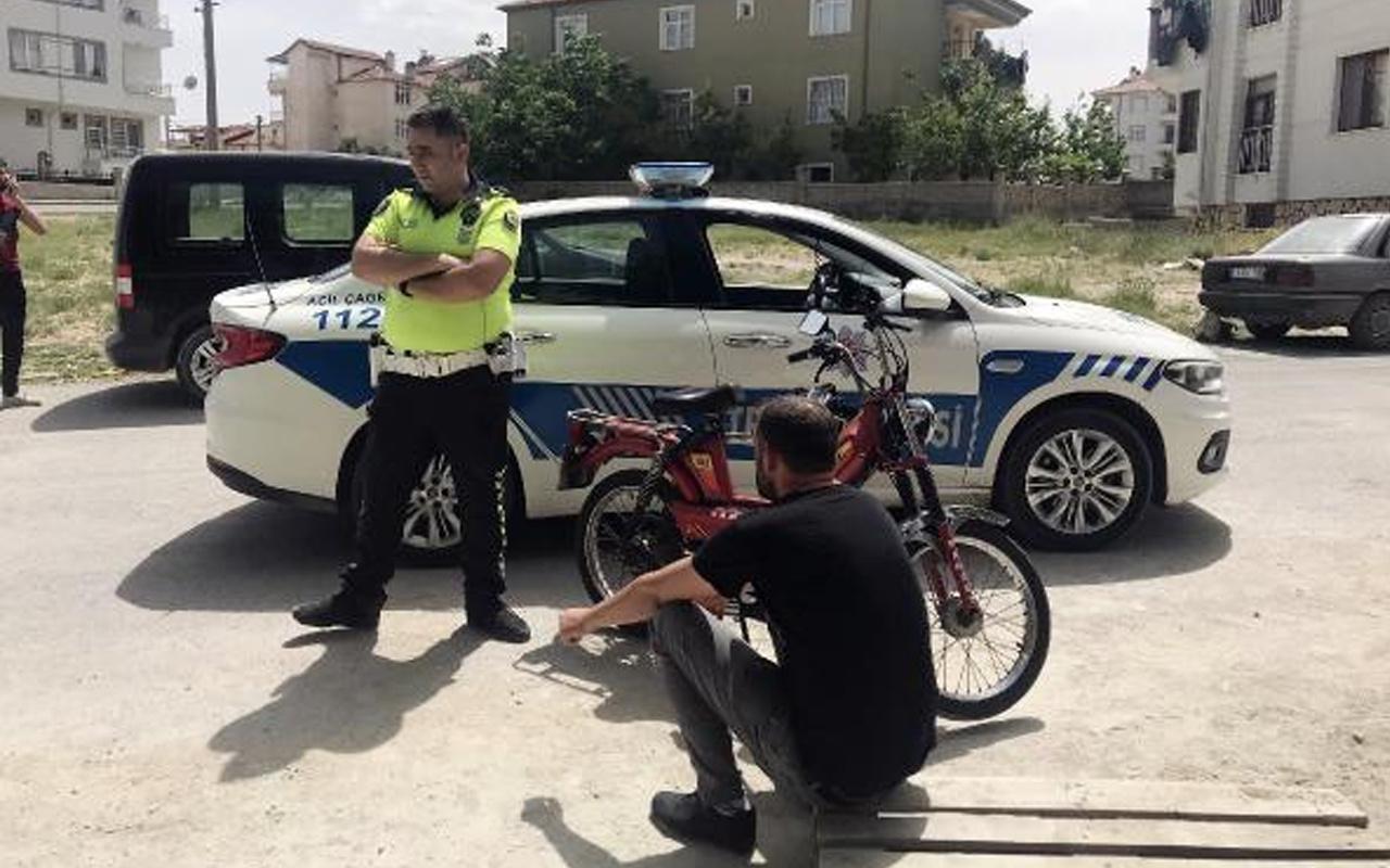 Karaman'da denetimden kaçan motosikletteki 2 kişi gözaltına alındı