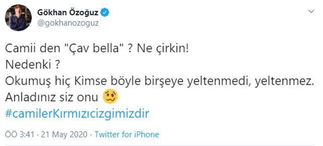 İzmir'de camilerden 'Çav Bella' çalmasına ünlü isimler de sessiz kalmadı