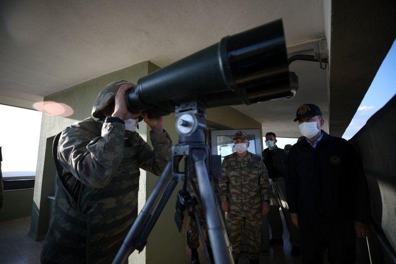 Bakan Akar sınırın sıfır noktasında açıkladı! 13 terörist etkisiz hale getirildi
