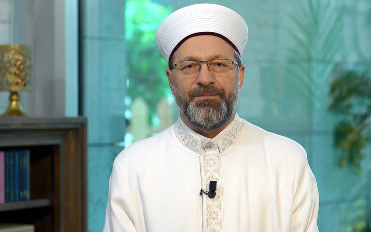 Diyanet İşleri Başkanı Ali Erbaş'tan 'bayram namazı' açıklaması isteyen evinde...