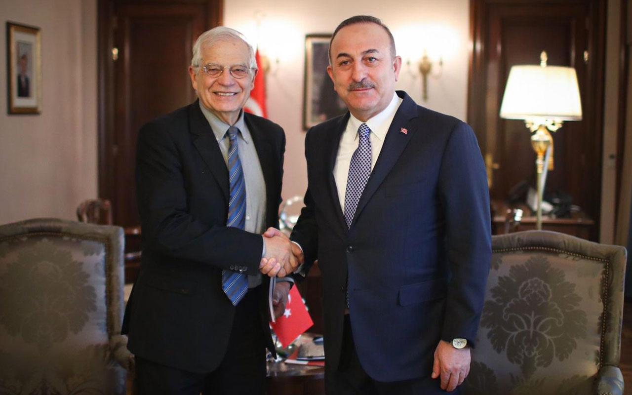 Mevlüt Çavuşoğlu ve Borrell'den Filistin görüşmesi