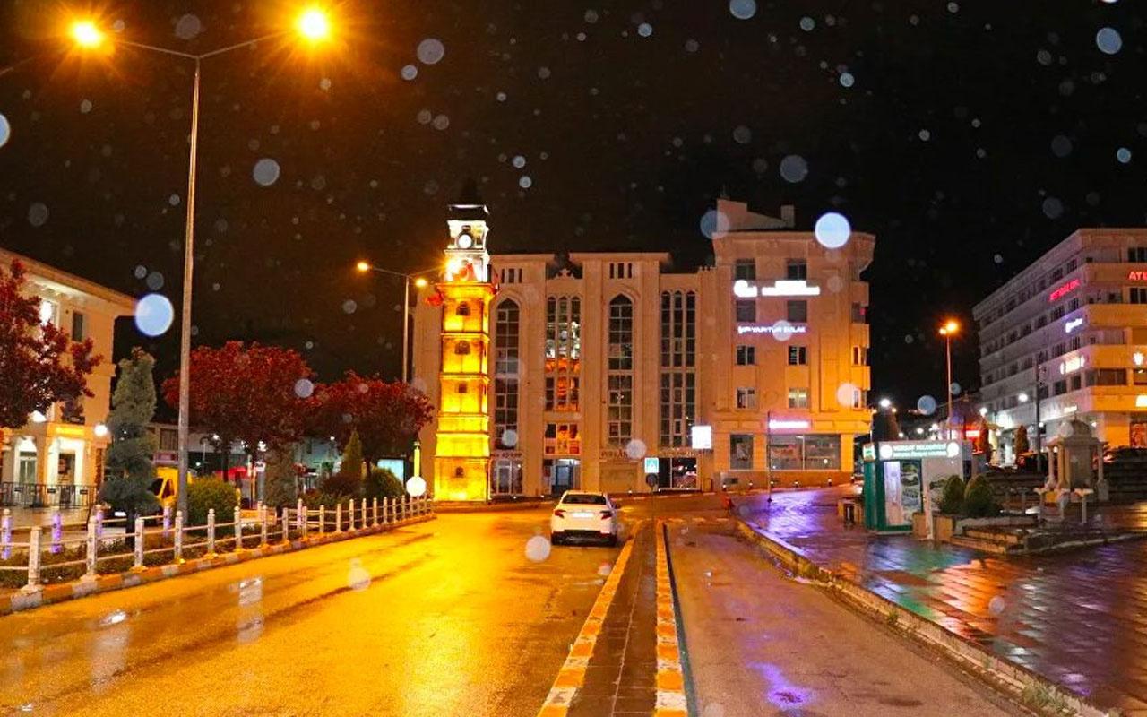Yozgat'ta Mayıs ayında kar sürprizi! Hava sıcaklığı 1 dereceye düştü