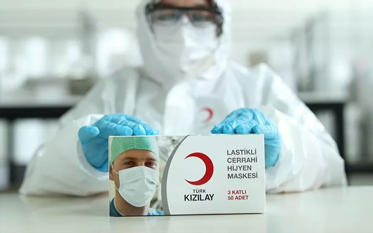 Kızılay maske fabrikasında yeniden üretime başladı