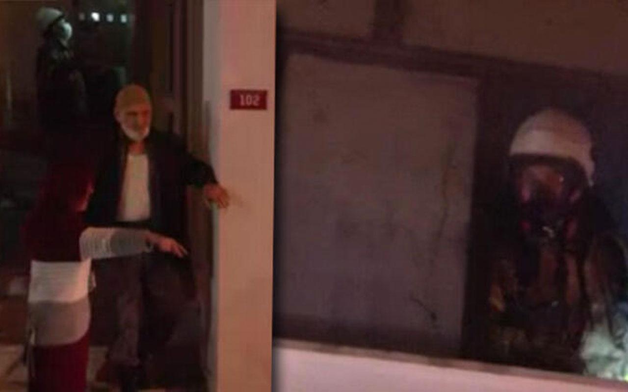 İstanbul'da korkutan yangın! Apartman sakinlerinden 'Evini yaktı ve kaçtı' iddiası