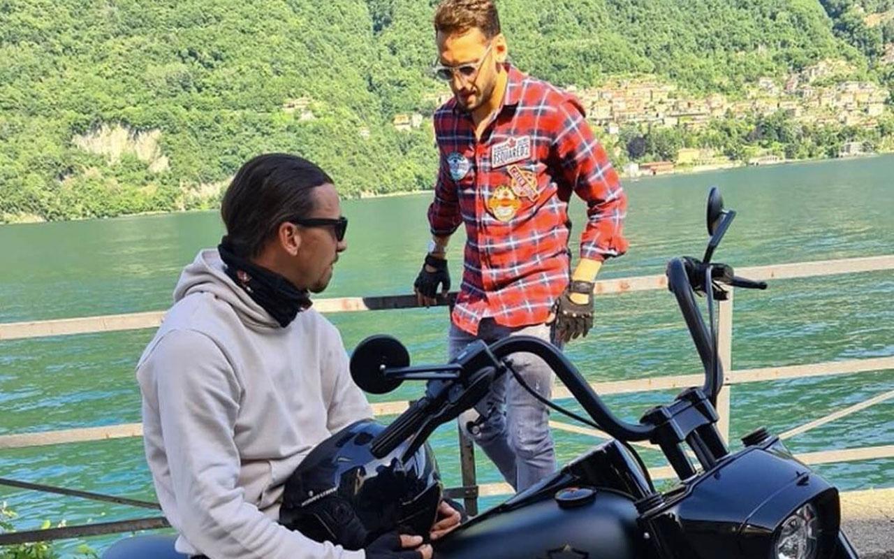 Zlatan İbrahimovic Hakan Çalhanoğlu ile motor gezisine çıktı fotoğraf paylaştı