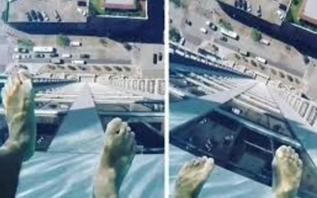 ABD'de salgından kaçan aileler şeffaf cam tabanlı havuzlu apartmana yoğun ilgi gösteriyor