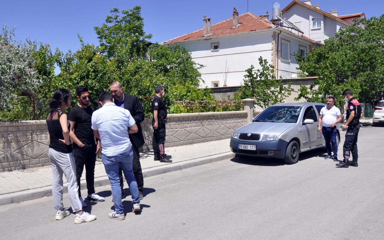 Karaman'da alacaklısının otomobilini çarparak durdurup sopayla dövdüler